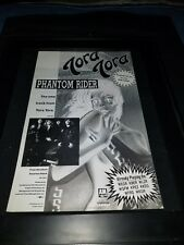 Tora Tora Phantom Rider Rare Original Radio Promo Poster Ad Framed!