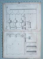 1847 Entwicklung Aufdruck Verbessert Korn Mühle Von William Fairbairn Manchester
