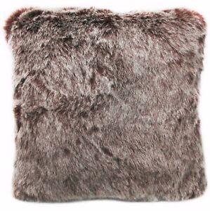 Fq865a Burgundy Thick Long Plush Faux Fur Cushion Cover/Pillow Case*Custom Size*