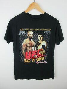 UFC 159 Jones Vs Sonnen Championship Fight Mens T Shirt Size S Crew Neck Tee