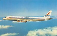 DELTA DC-8 SEATS 119  Airplane Postcard
