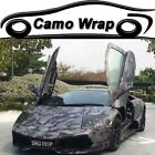 Arctic Camouflage Vinyl Film Adhesive Black Grey Wrap Decal For Car Motorcycle