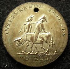 1814 Napoleon on Ass with Devil Token Medal SILVERED VERY RARE