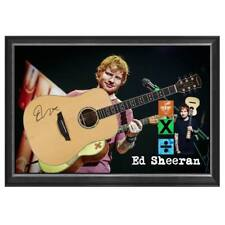 ED SHEERAN HAND SIGNED FRAMED FULL SIZE ACOUSTIC GUITAR CERTIFICATE NO TICKETS