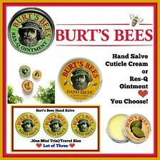 Burts Bees Hand Care 🐝 Salve 🐝 Cuticle Cream 🐝 Res-Q Ointment