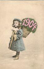 CARTE POSTALE POST CARD FANTAISIE  PETITE FILLE SYMBOLE DE L'ANNEE 1904 S.2127