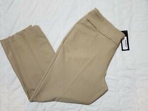 1 NWT ADIDAS WOMEN'S PANTS, SIZE: LARGE, COLOR: KHAKI (J118)