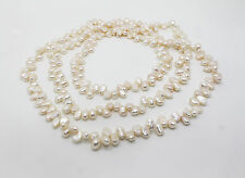 """55"""" INCH LONG Genuine Natural Fresh Water Cultured Pearl Necklace"""
