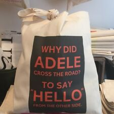 COTTON TOTE BAG: WHY DID ADELE CROSS THE ROAD?  NEW - POST DAILY