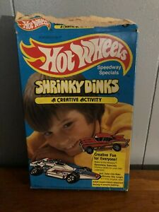 Vintage 1979 Hot Wheels Shrinky Dinks in Original Box With Instructions