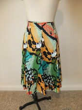 JUMP LADIES SIZE 10 100% COTTON FULL PANELLED SKIRT MULTI COLOURED BRIGHT CASUAL