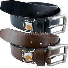 """Carhartt Belt Men's 1-1/2"""" Legacy Leather Belts Black or Brown"""