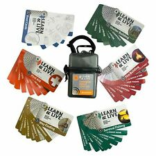 UST Waterproof and Durable Learn & Live Emergency Cards Outdoor Skills Set