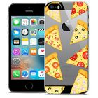 Coque Crystal Pour iPhone 5/5s/SE Extra Fine Rigide Foodie Pizza
