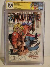 Wolverine #10 CGC Label SS 9.4 Chris Claremont Sabretooth Fight 1st Silver Fox