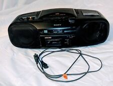 SONY RADIO CFD17 Boombox Stereo CD cassette AM FM radio parts or repair