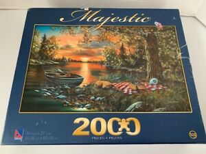Majestic Puzzle Lakeside Rendezvous 2000 Pieces New and Sealed