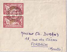 MERSON-PAIRE N°121 PAIRE CENTRE TRES DEPLACE-CACHET