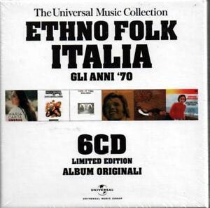 ETHNO FOLK ITALIA GLI ANNI '70 - 6 CD NUOVO  FARASSINO DINO SARTI MUSICANOVA