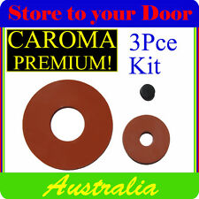 CAROMA Cistern Washers - Silicone Repair set - Leaking Toilet Washer 3 pce kit