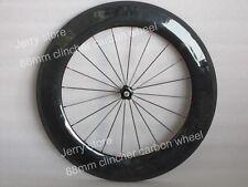 88mm clincher front bike wheels full carbon fiber 700C road wheels,front only