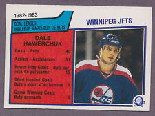 1983-84 O-Pee-Chee OPC Hockey Dale Hawerchuk #377 Winnipeg Jets Leaders NM/MT