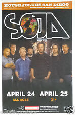 SOJA 2013 SAN DIEGO CONCERT TOUR POSTER - Reggae Music