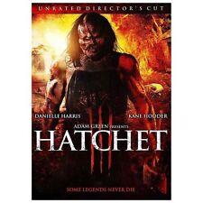 Hatchet III    *Brand New*  (DVD, 2013, Uncut & Unrated )
