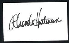 Rhonda Hartman signed autograph auto 3x5 index card NHRA Top Fuel Driver