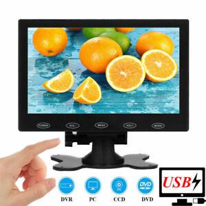 "USB Powered 7"" LCD PC CCTV Monitor Display Screen HDMI AV VGA BNC 1024*600"