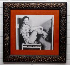 Vintage BRUCE SPRINGSTEEN High Quality FRAMED PHOTOGRAPH in ITALIAN WOOD FRAME