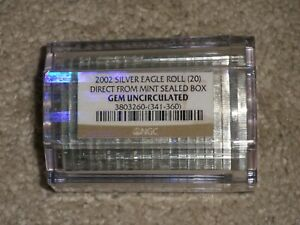 2002 AMERICAN SILVER EAGLE's  SEALED NGC BU ROLL