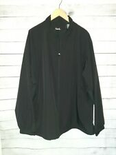 Walter Hagen Men's Windbreaker Rain Jacket XXL Black Golf Full Zip Hydro Halt