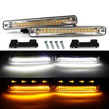 Pair 20W White Amber LED Car Daytime Running Light DRL Signal Switchback E4 Mark
