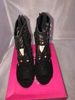 Womens Shoedazzle  Black Dress Sandals Size 9