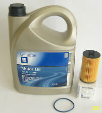 Opel GM 5W-30 dexos 2 Longlife Motoröl 5 Liter und ORIGINAL Opel Ölfilter 650172