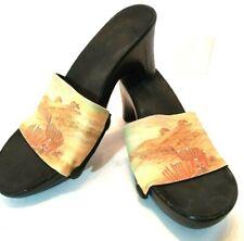 Onesole Women Size 9Heeled Shoes Interchangeable Padded Heel, Beach