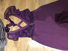 ASOS Wrap Lace Jump Suit Wide Leg size 12