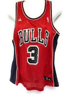 Womens Chicago Bulls Ben Wallace #3 Glitter Screened NBA Basketball Jersey