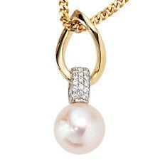Echte Perlen-Anhänger aus Weißgold mit Akoya