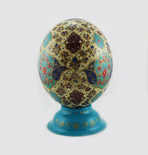 Painted Ostrich Egg , Gift, Decorations, Persian carpet, Easter egg T811