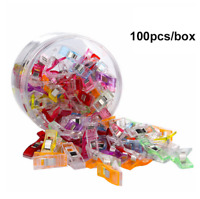 100PCS Wonder Clips Plastic for Fabric Quilting Craft Sewing Knitting Crochet