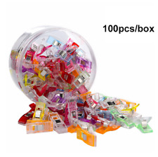 100PCS Wonder Clips Plastic for Fabric Quilting Craft Sewing Knitting Crochet US