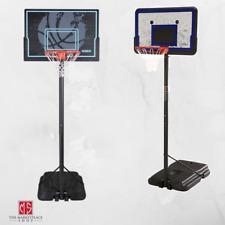 "Outdoor Basketball Hoop Portable Adjustable 44"" Backboard Adjusts 7.5' - 10'"