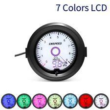 "2"" 52mm Digital Analog LCD Oil Pressure Gauge Kit 7 Color Press Meter w/ Sensor"