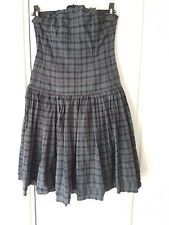 All Saints tartan check strapless corset dress size 14