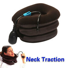 Inflatable Air Neck Shoulder Pain Cervical Traction Brace Device Relief Comfort