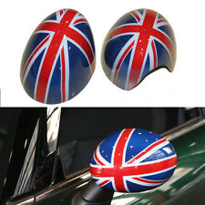 2X  Union Jack Style Car Side Mirror Covers Caps Shell For MINI Cooper F56 F55