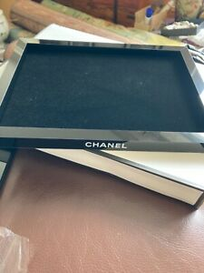 Chanel Black Acrylic Organiser tray with velvet insert VIP