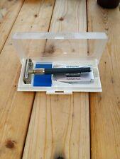 Vintage Gillette Blue Platinum Plus Razor and Blades in Case
